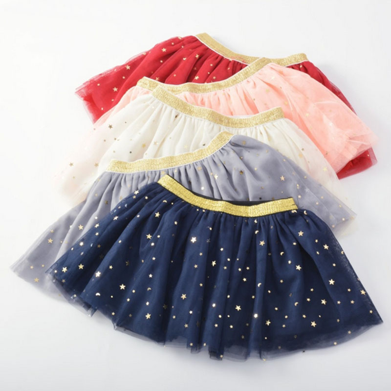 Baby Girls Tutu Skirts Shining Stars Ball Gown Pettiskirt Kids