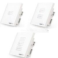 2017 Funryn New Uk Standard 1 2 3Gang RF 433 Wireless Touch Remote Control Wall Light