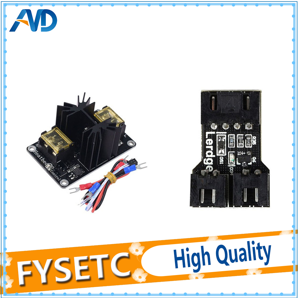 HiLetgo 2pcs 3D Printer Accessories 30A Mos Tube Heat Bed Power Module Expansion Board High Current Load Module Mos Tube Hotend Replacement with Cables for 3D Printer