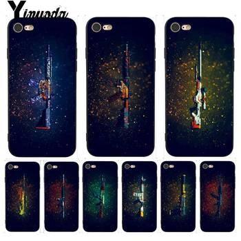Yinuoda AWP Sniper Rifle Asiimov CSGO Admirable Phone Case for iPhone 7 6 X 8 6s Plus 5 5S SE XR XS XSMAX11 11pro 11promax image