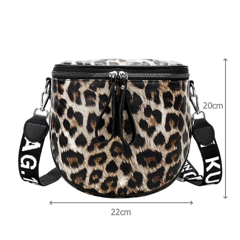 Animal Pattern Leopard Bucket Women Handbag PU Leather Messenger Bags For Women Shoulder Bag Female Crossbody Bags