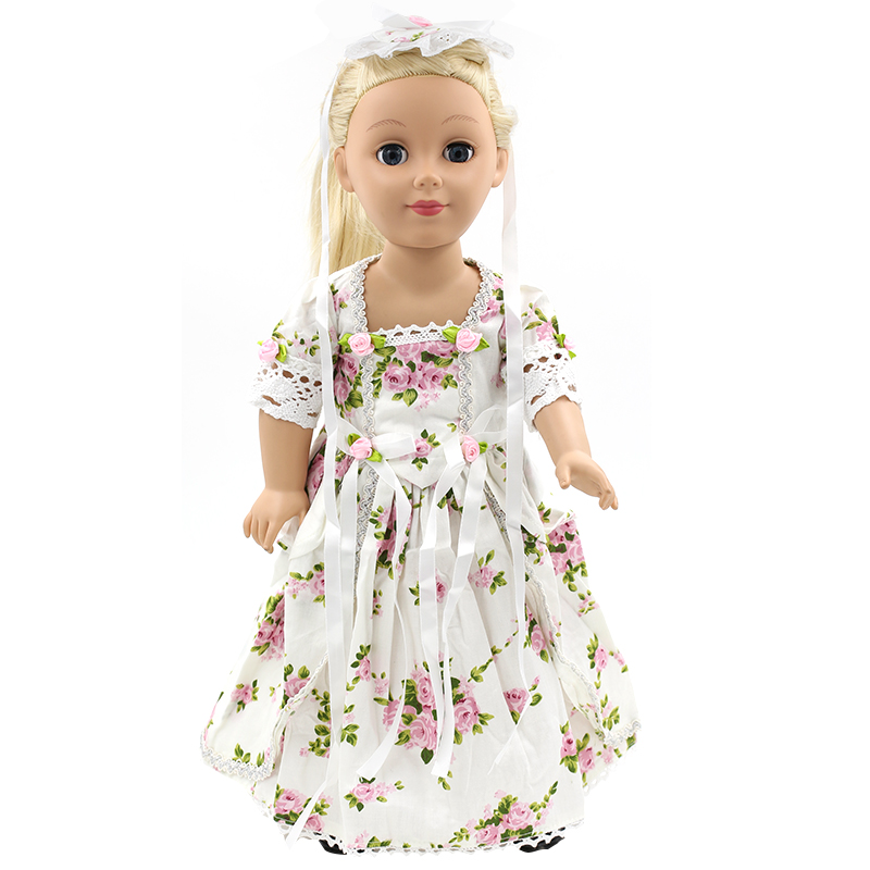Stock Fahion 15 styles flower Princess Dress Doll Clothes fit 43cm Baby Born Zapf Doll Clothes and Accessories for kids MG045