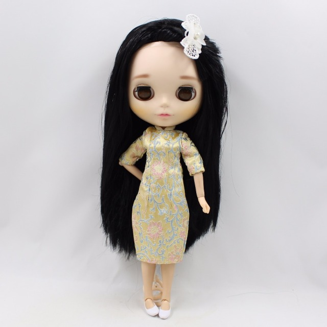 Neo Blythe Doll Ancient Embroidery Cheongsam Dress
