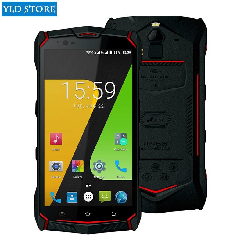 JESY J9s Pro IP68 Étanche robuste mobile téléphone Octa Core 4 GB 64 GO Smartphone 5.5 FHD NFC Android 7.0 Sans Fil de Charge 6150 mAh