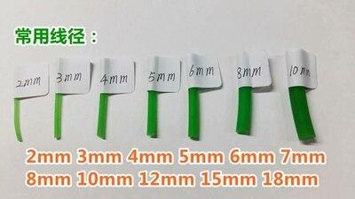 Runde PU gürtel 2 3 4 5 6 7 8 9 10 12 15mm Industrielle synchron gürtel streifen fahren bewegung förder übertragung maschine