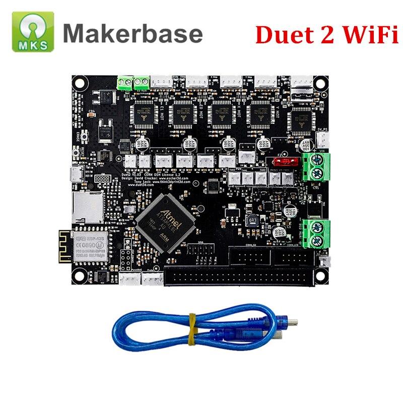 Duet 2 Wifi Borad cloné Duet2 Wifi pièces de carte mère électronique 32 bits avancées pour carte de commande d'imprimante 3D et imprimante CNC