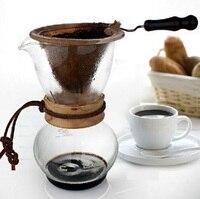 Free Shipping Coffee driperCoffee drop pot Wooden/ Metal