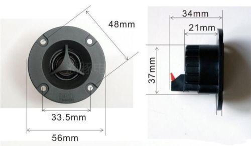 2pcs 2 inch 8Ohm 15W Car tweeter Introduction Speaker Loudspeaker For PSB