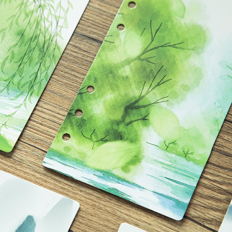 A5 A6 Loose-Leaf Notebook Paper Inside Pages Notebook Bookmark Separator Index Paper Stationery
