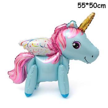 1PC 100*97CM Pink Horse Little Pony Unicorn Foil Balloons Helium Balloon Kids Toys Wedding Birthday Animal Party Decor Supplies 33