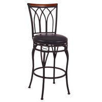 Vintage Swivel Bar Stools For Home 24 28 Height Adjustable Padded Seat Bistro Pub Chair Barstools Furniture HW54180
