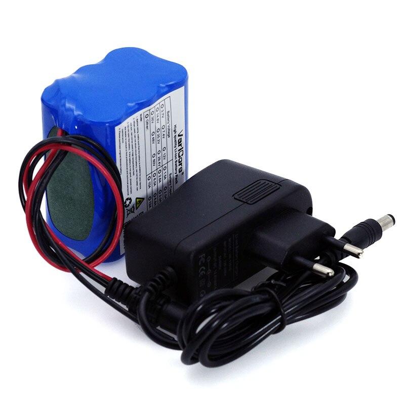 Varicore 12 v 4.4ah 4400 mah 18650 bateria de lítio-íon pcb placa protetora cctv cam monitor ues + 12.6 v 1a carregador de bateria