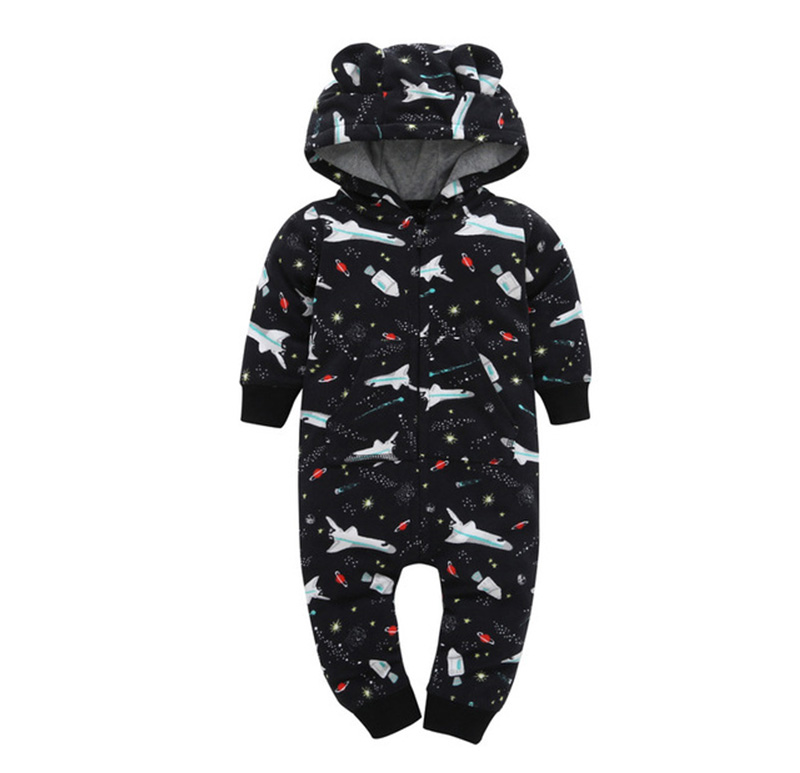 HTB1pvI8oA9WBuNjSspeq6yz5VXao 2019 Fall Winter Warm Infant Baby Rompers Coral Fleece Animal Overall Baby Boy Gril Halloween Xmas Costume Clothes Baby jumpsuit