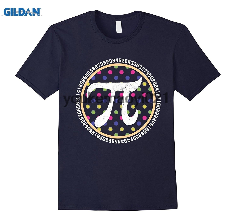 GILDAN Polka Dots Pi Number For Preppy Pi Day March 14 Math TShirt