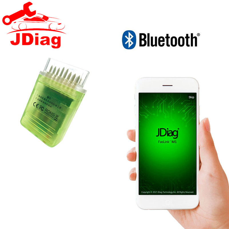 US $39 99 |JDiag FasLink M1 Bluetooth OBD2 Code Reader Check Engine Light  OBDII Scan Tool for iPhone iPad and Android with Powerful APP on