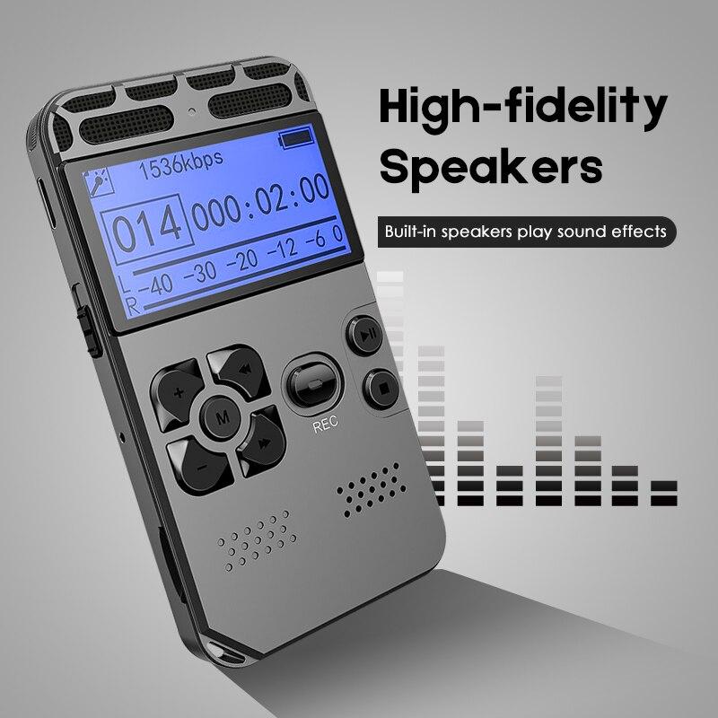 Réduction du bruit enregistreur vocal numérique activé lecteur MP3 USB charge sans perte Dictaphone LED enregistrement Dictaphone