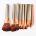 12 Unids/set Profesional Pinceles de Maquillaje Set Sombra de Ojos Cosmético Fundación Corrector Cepillos Cepillo Cara maquillaje Herramientas Accesorios