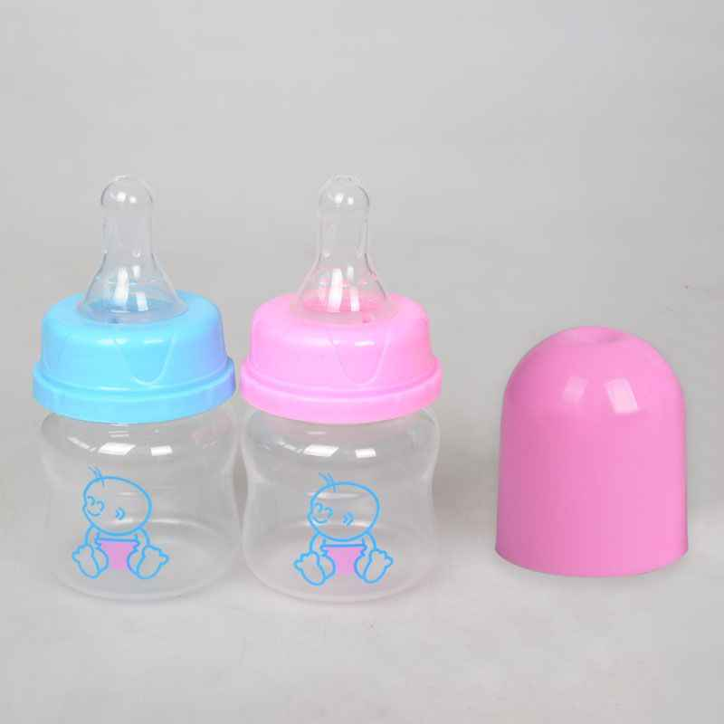 60 ML ทารกแรกเกิด Mini ขวดนม Mamadeira ปลอดภัย Biberon เด็กวัยหัดเดินให้อาหารน้ำ Care Feeder น้ำผลไม้นมขวด