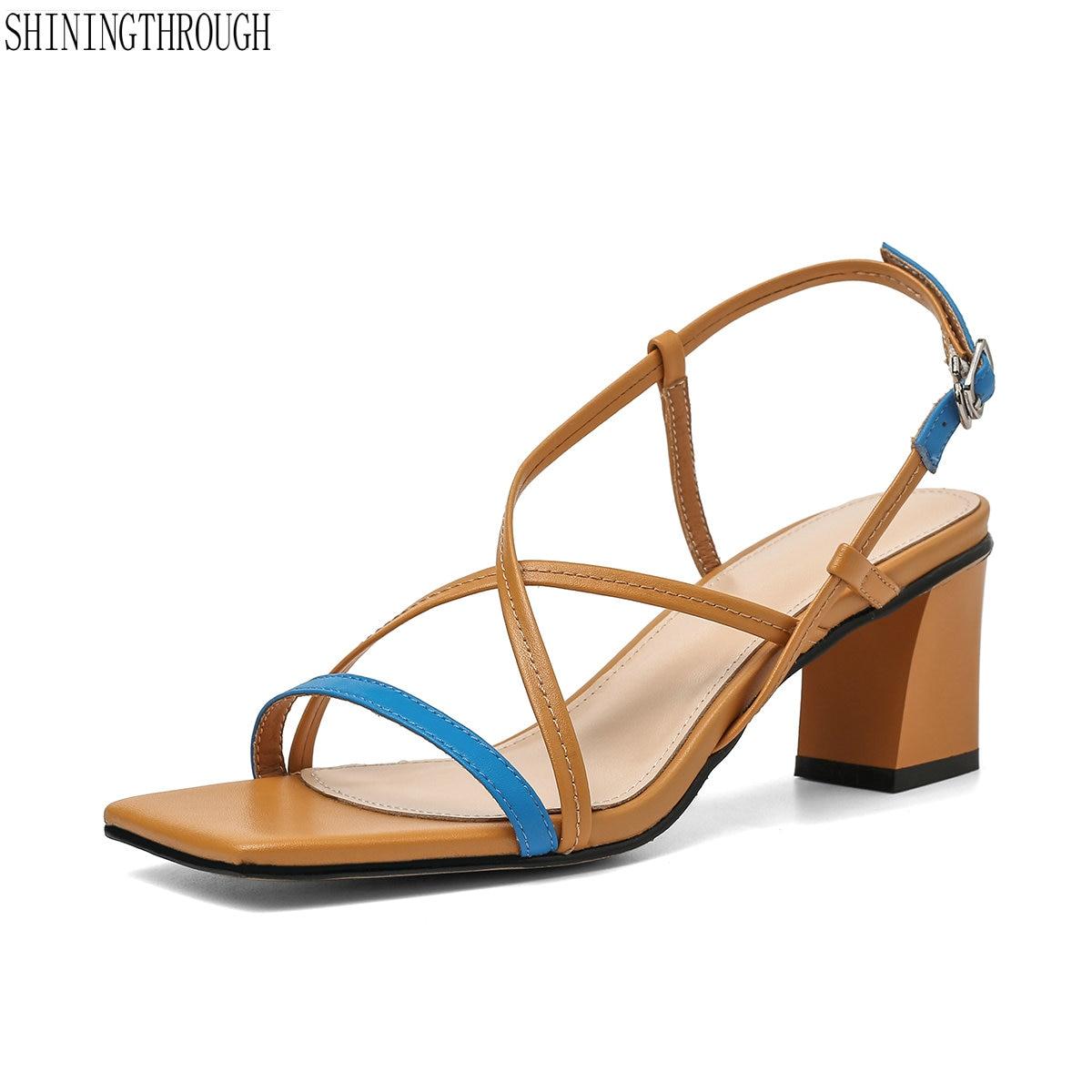Taille Nouveau White Jaune Femmes Chaussures Talons Gladiateur DHE92I