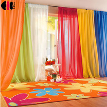 Curtains black and white drapes Sheer yarn tulle Orange Curtains Tulle for ivory curtains green curtains wedding ceiling WP184C cheap AiFish Translucidus (Shading Rate 1 -40 ) Left and Right Biparting Open Window Ceiling Installation Yarn Dyed Bay Window