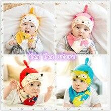 Весенняя детская шапочка с топовым Чепчик для сна для детей 0-2 лет