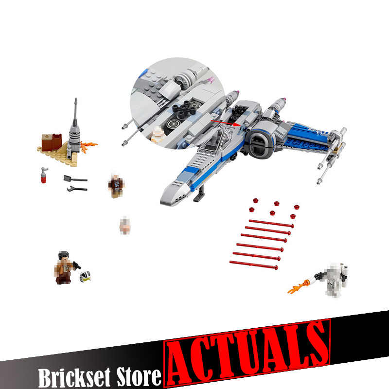 New LEPIN 05029 Star Wars First Order Poes X-wing Fighter building blocks X wing Star wars Toys For Children compatible 75149