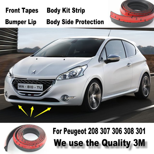 aliexpress : buy car bumper lips for peugeot 208 307 306 308