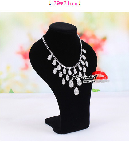 Free Shipping!! Fashion Black Necklace Mannequin Bust Necklace n Jewelry Display