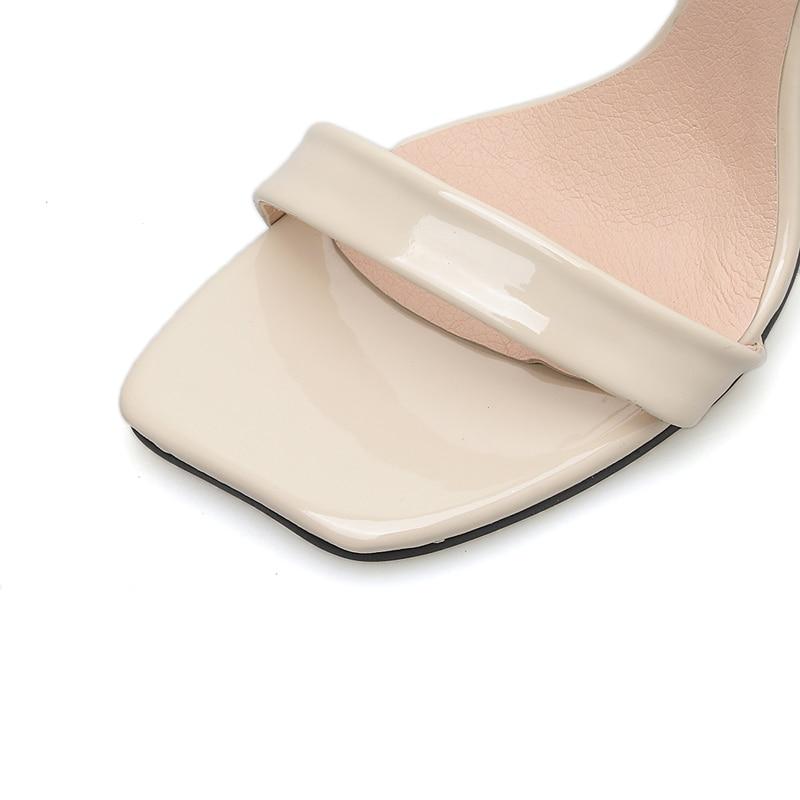 Verano Tacón Talón Sandalias Zapatos Cruz Mujer Negro Sexy Cm Oficina Abierta 10 De Hebilla Alto Damas Punta UaSwT
