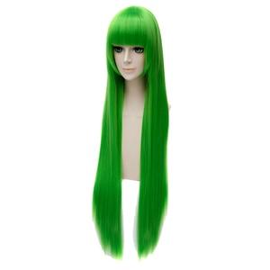 Image 2 - L e mail perücke Neue Animation 100 cm/39,37 zoll Cosplay Perücken Grün Lange Gerade Synthetische Haar Perucas Cosplay perücke