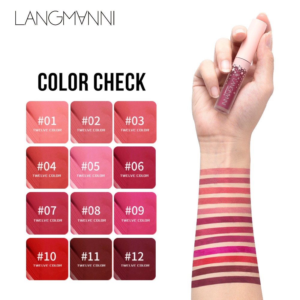 Waterproof Long Lasting Lips Tint Lipstick Cosmetics 12 Color Natural Moisturizer Nude Velvet Liquid Lip Gloss Matte Makeup 3