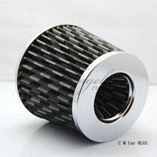 Углеродного волокна 76 мм автомобильной воздушный фильтр SIMOTA грибок поток воздухозаборника двигателя голова пуста в системе, Бесплатная доставка