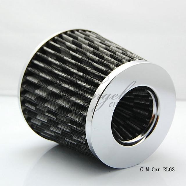Fibra de carbono 76 mm filtro de aire del automóvil SIMOTA cabeza de hongo de flujo de admisión de aire del motor de cabeza en sistema, envío gratis