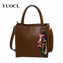 2018 crossbody bags for women leather handbags luxury handbags women bags designer toy tassel shoulder tote bag bolsa sac a main все цены