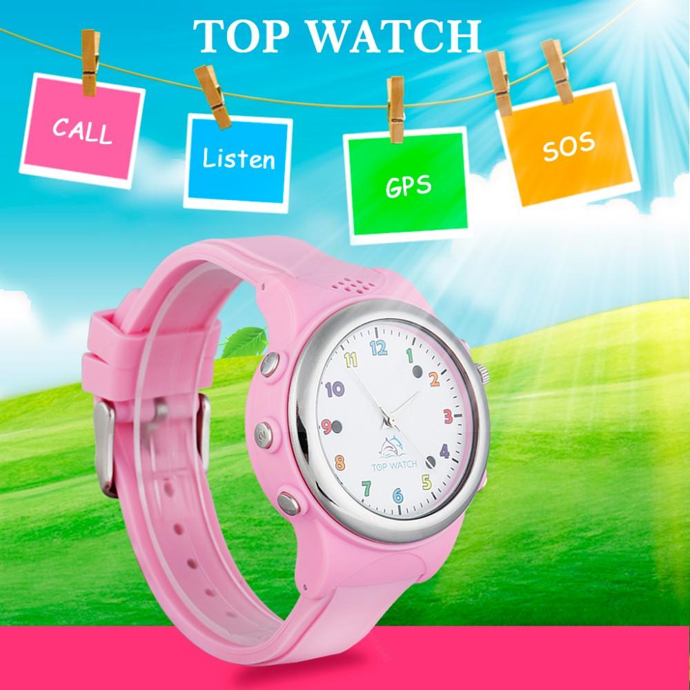 Kid GPS font b Smart b font Watch Wristwatch SOS Call GPS LBS Double Location Device