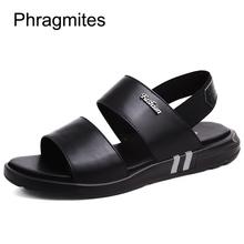 Phragmites Men Casual Shoes Sandals Leather Classic Roman Sandals 37# England Beach Sandals Fashion Metal Rivet Men Shoes