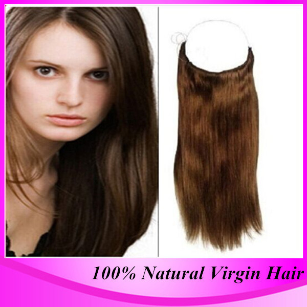 2017 Hot Sale Cheap Grade 6A Remy Halo Hair Extensions 100 Natural Straight Indian Real Fish Line Extension On Aliexpress
