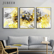 Abstract Canvas Painting Graffiti Decorative Picture Gold Watercolor Wall Art Poster For Living Room Nordic Decoration Home