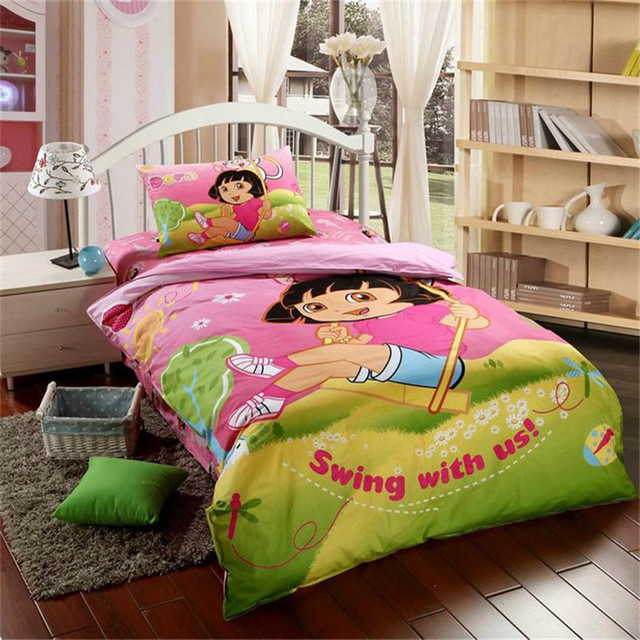 Ensemble de literie mignon Dora pour filles/