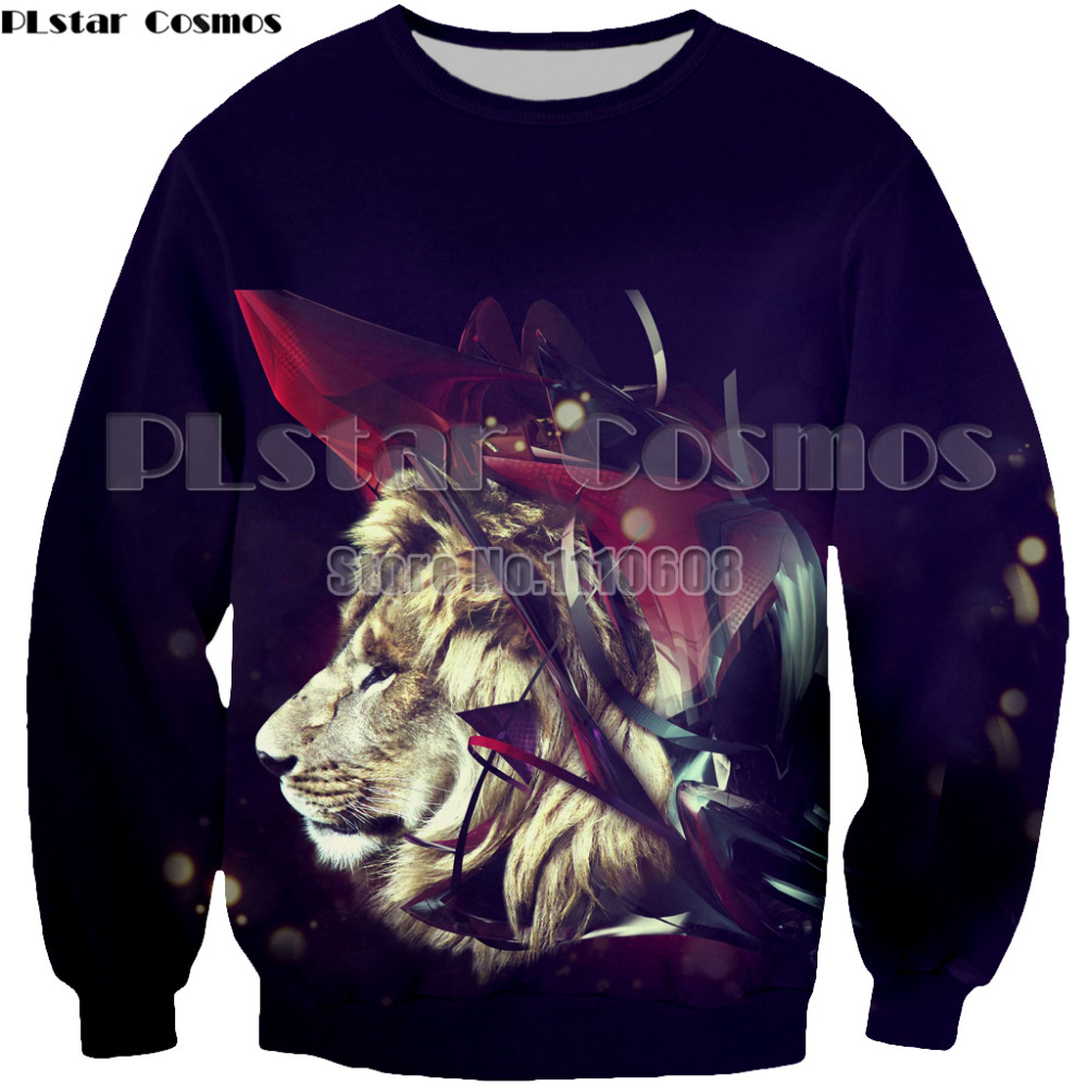 PLstar Cosmos Hot sell Print Lightning Lion Fashion Men/Women 3d Sweatshirts Hooded Hoodies Thin Hoody Tracksuits Tops