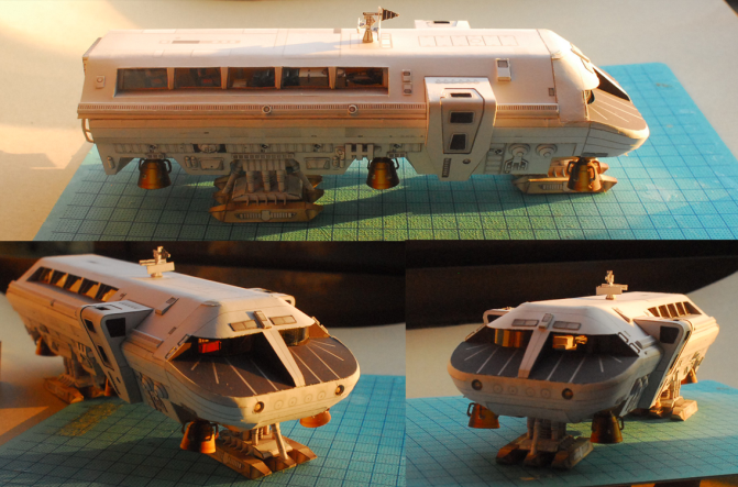 2001 SPACE ODYSSEY MOON BUS Papermodel