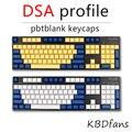 Envío libre teclado teclas claves Dsa en blanco impreso 108 grueso pbt para mechanial Dsa perfiles ISO ANSI layout