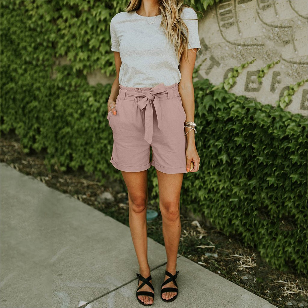 2019 Summer Autumn Cotton Linen   Short   Pants Suits Women Loose One Button Blazer And High Waist   Shorts