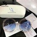 Super cantada 2017 new aro completo óculos de armação 114 mulheres da moda de todos os jogos rodada óculos de sol tamanho 62-18-135 óculos de sol feminino