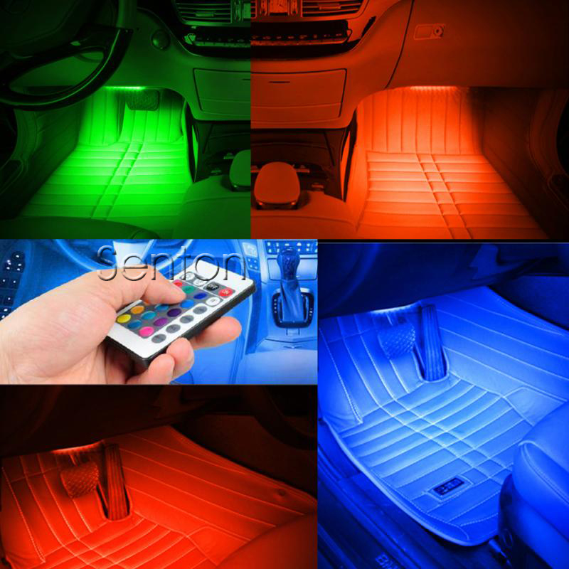Car Interior Atmosphere Light Wireless Remote For Volkswagen VW Polo Passat B5 B6 CC Golf 4 5 6 7 Touran T5 Tiguan Bora Scirocco for volkswagen passat b6 b7 b8 led interior boot trunk luggage compartment light bulb