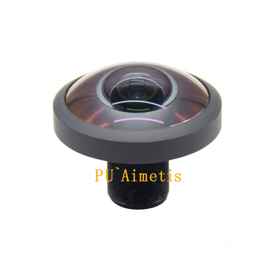 PU`Aimetis 5MP 360 degree panoramic fisheye 1.8MM lens ultra wide angle full glass 6G HD M12 CCTV lens Camera Security Camera fisheye 5 0mp m12 1 56mm cctv lens m12 ir 1 2 5 5 0megapixel for hd ip camera 185d wide angle panoramic lens