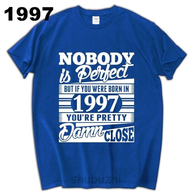 Mannen 20 Jaar Verjaardag T Shirt Man Katoenen Tops Geboren In 1977