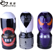 Black wolf Soft Silicone Pocket toys aircraft cup male masturbator sex toys for men fake pussy anal silica artificial vagina(China (Mainland))
