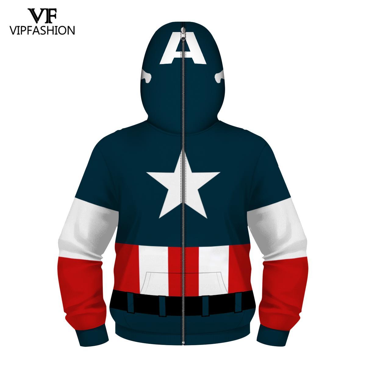 Image 3 - VIP FASHION Children's Boys Zpper Hoodies Avengers Marvel Superhero Iron Man Captain America Spiderman Kid Cartoon Jacket 4 13T-in Hoodies & Sweatshirts from Men's Clothing