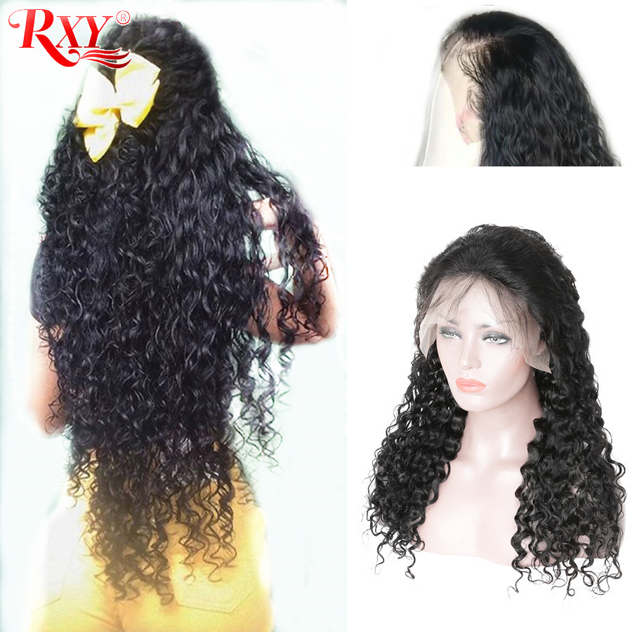 Water Wave Lace Front Wigs For Black Women Pre Plucked RXY Remy Brazilian Human Hair Lace